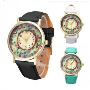 130 Ladies Quartz Floral Wrist Watch