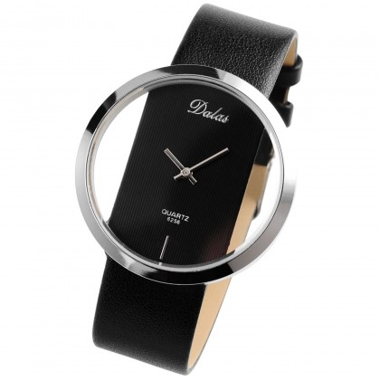 141 Transparent Dial Analog Leather Women's Wrist Watch