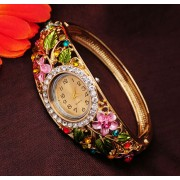 115 Women GENEVA Bangle Watches 18k Gold Filled Wristwatch