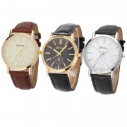 101 Leather Analog Quartz Wrist Watch
