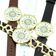 45 Womens Leather Analog Wristwatch
