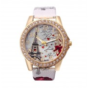 321 White Women's Analog Wrist Watch