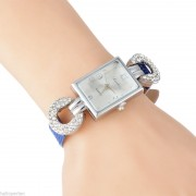 230 Ladies Crystal Rhinestone Leather Wrist Watch