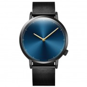 368 Luxury Black Blue Simple Design Wrist Watch