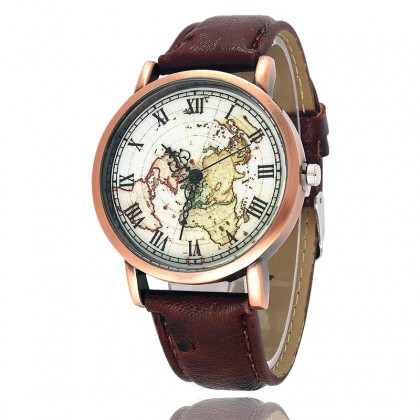 103 Soft Leather Copper Alloy Quartz Wristwatch