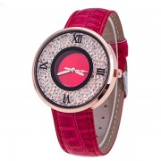 202 Lady Round Dial Analog Wrist Watch