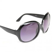 06 Girl Handsome Glasses Personality Big Lens Sunglasses Black