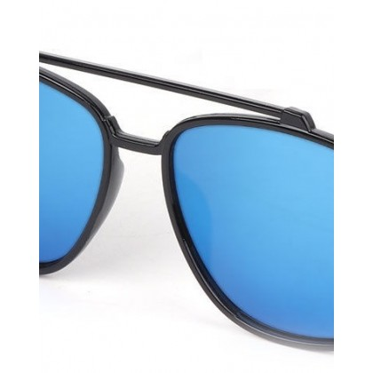 03 Black Frame Double Bridges UV400 Sunglasses