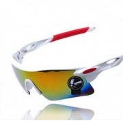 21 Outdoor Bicycle Bike Red Goggles UV Protective Sunglasses