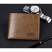22  Man Brown Jeep Buluo Male Long Leather Wallet